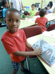 Cameron Bibb during summer camp at the Martin Luther