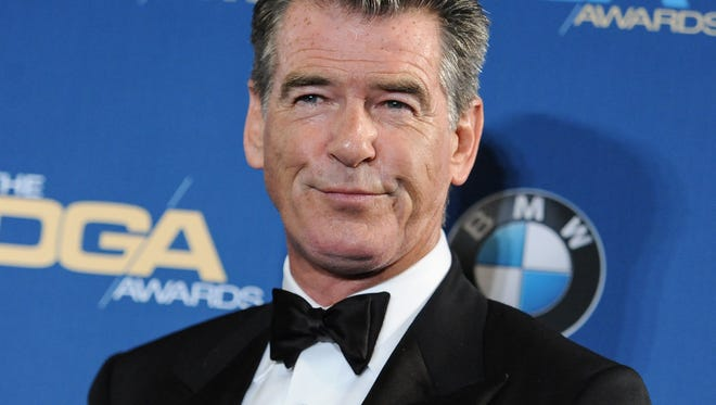 Pierce Brosnan attends the Press Room at the 67th Annual DGA Awards, in Los Angeles.