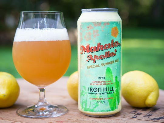 Iron Hill Brewery's Mahalo, Apollo! is now available in cans.