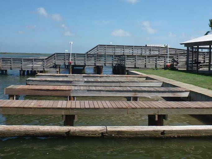 This San Patricio Navigation District pier in Aransas
