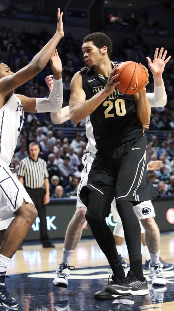 Purdue center A.J. Hammons (20) has not yet announced