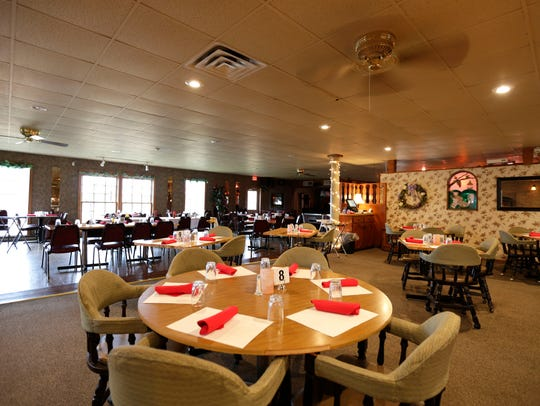The Belvedere Supper Club's main dining room, seen