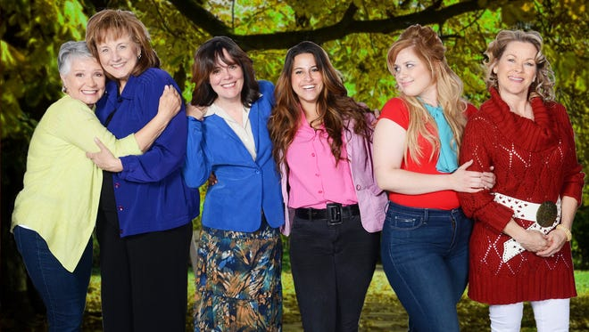 The cast of the Scottsdale Community Players production of 'Steel Magnolias' at Stagebrush Theatre. L-R: Patti Davis Suarez, Laura Durant, Maureen Dias, Jamie Sandomire, Ashley Faulkner and Jodie Weiss.
