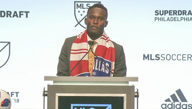 Michigan forward Francis Atuahene was selected No. 4 overall by Dallas in the MLS Super Draft.