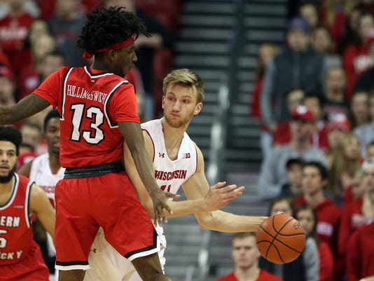 NCAA Basketball: Western Kentucky at Wisconsin