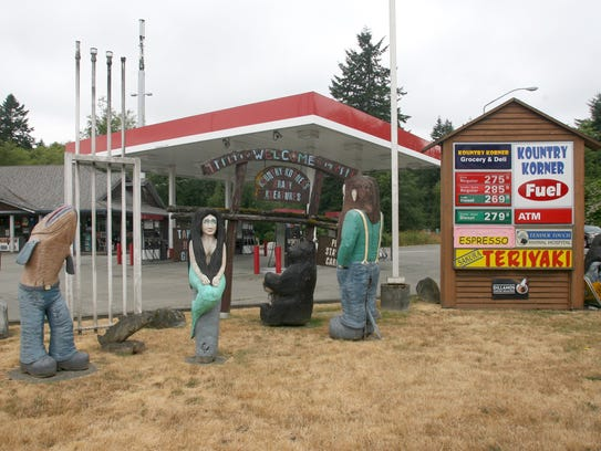 The Kountry Korner gas station and its collection of