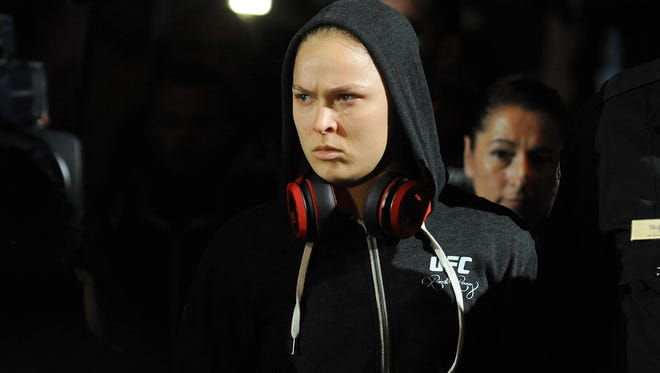 Ronda Rousey says she can't remember the final words she had with her father.