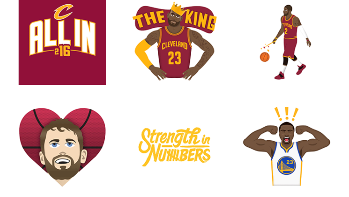 NBA unveils Warriors and Cavaliers themed emoji app to ...