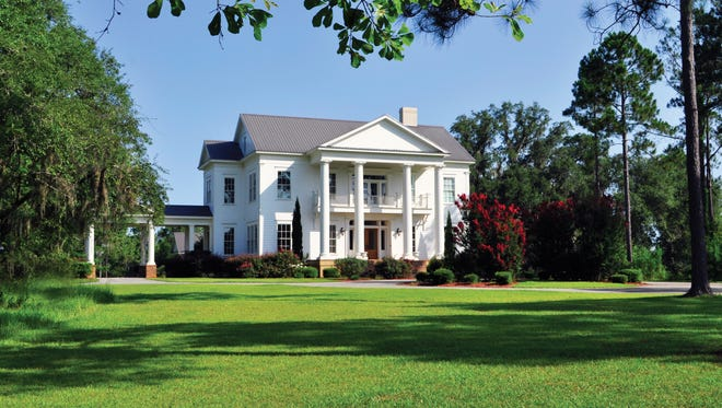 The main house at Oldfields is the centerpiece of the property.