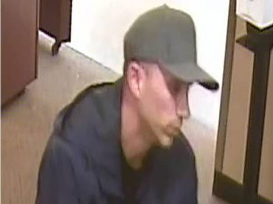 Teddy Stivahtis, Jr. on surveillance footage at Chase Bank on Oct. 13.