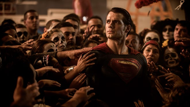 Henry Cavill plays Superman in 'Batman v Superman: Dawn of Justice.'