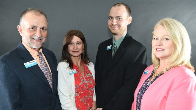 The Mountain Home Education Foundation will honor First Security Bank at this year's Night of Honors: (From left to right) President and CEO for First Security Bank Tim Coleman, branch manager Cindy Arnold, vice president lending Allen Moore and mortgage originator Gwen Tish.