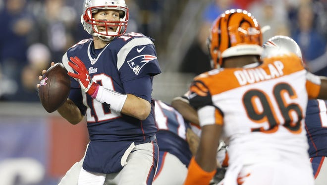 New England Patriots quarterback Tom Brady is making his 2016 home debut against the Cincinnati Bengals on Sunday.
