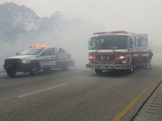 BCFR units assisting Melbourne Fire Dept. with a large