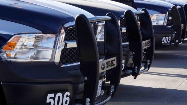 Juárez police trucks
