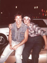 Tammy Milan took this picture with Bruce Springsteen in the 1980s at the Jersey Shore.