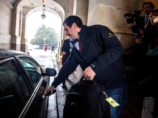 Devin Nunes exits the U.S. Capitol after releasing