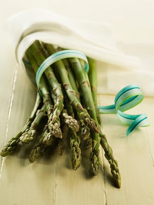 Local asparagus is harvested for just eight to 10 weeks, so enjoy it while it's available.