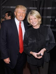 Donald Trump and Martha Stewart attend The New York Observer Relaunch event on April 1, 2014, in New York City.