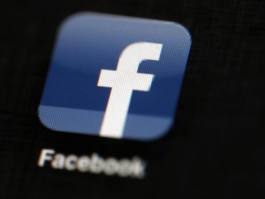 A Facebook icon.