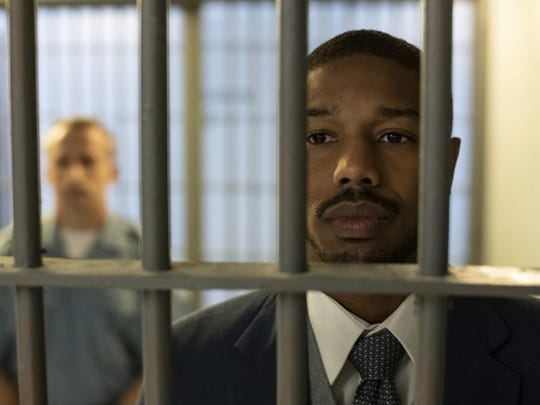 "Michael B. Jordan in ""Just Mercy."""