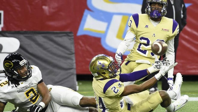 Alcorn State defensive back Warren Gatewood (24) will be play in his last game for the Braves on Saturday.