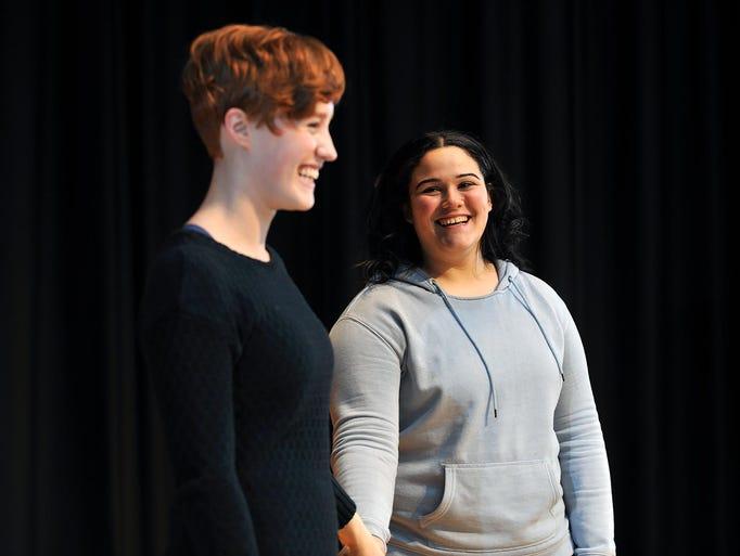 Vineland High School theatre arts program members Jaclyn