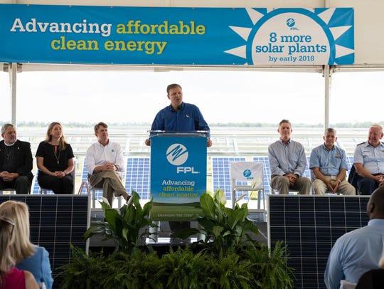 Blue Cypress Solar Energy Center groundbreaking.