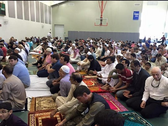 Prayers at Eid Iftar, one of the most sacred holidays for Muslims. It comes after the holy Month of Ramadan and was celebrated Wednesday.