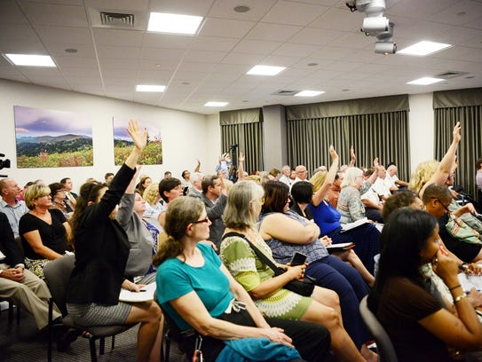 Residents turned out to share opinions on the $419
