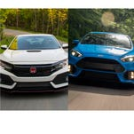 Best sports car: It's Honda Civic Type R versus Ford Focus RS, and they are both a blast to drive