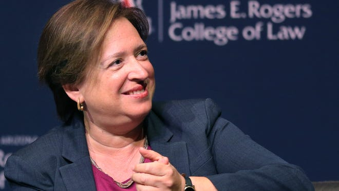 Supreme Court Justice Elena Kagan at the J. Byron McCormick Society for Law and Public Affairs lecture at the University of Arizona, Wednesday, August 31, 2016, Tucson, Ariz.  Kelly Presnell / Arizona Daily Star