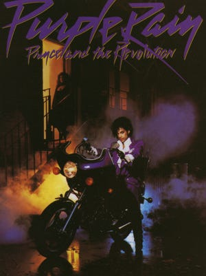 "Cover of the 1984 album ""Purple Rain"" by Prince."