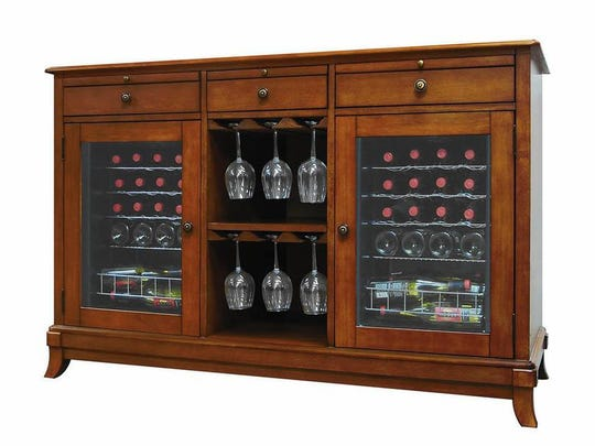 Vinotemp Portofino 36-Bottle Dual Zone ($2,059.99, wayfair.com)Combining the look of a credenza with the function of a fridge, the Vinotemp Portofino can also double as a bar.