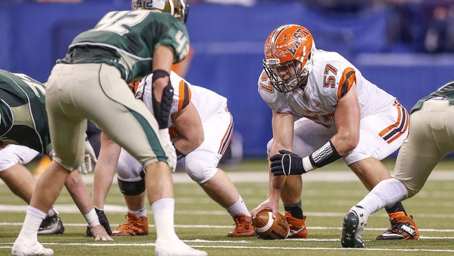 Columbus East's Harry Crider (57) has the potential to be IU's center of the future.