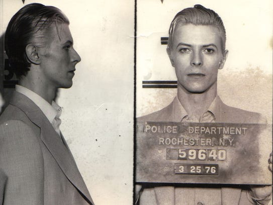 David Bowie was arrested in Rochester in 1976 for pot