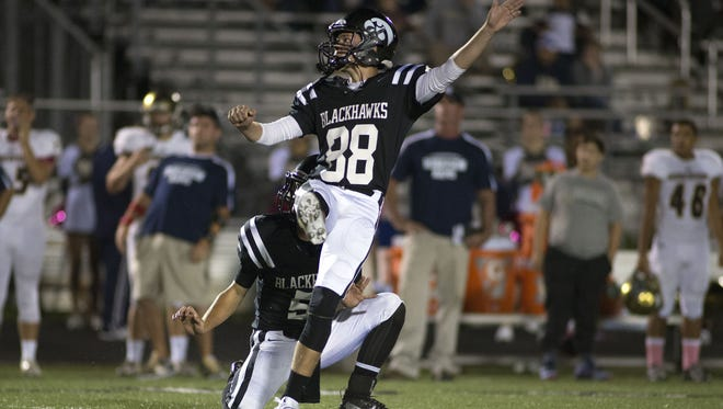 North Buncombe senior Tommy Apostolopoulos has committed to play college football for Centre (Ky.).