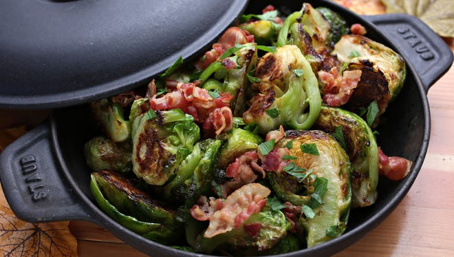 The Brussels sprouts with pancetta by Chef Patrick Fegan of Tavern Americana as seen in Scottsdale on Nov.7, 2014.