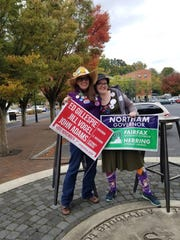 Staunton republican Nikki Narduzzi stands beside Staunton progressive Jennifer Kitchen, head of SAW Action Movement. Both work together in a bipartisan committee at the Institute for Reform and Solutions in Staunton, an organization devoted to criminal and social justice issues.