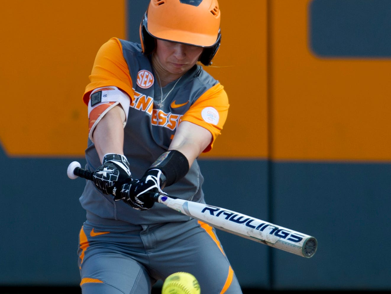 Tennessee's Aubrey Leach is a sophomore on the softball team.
