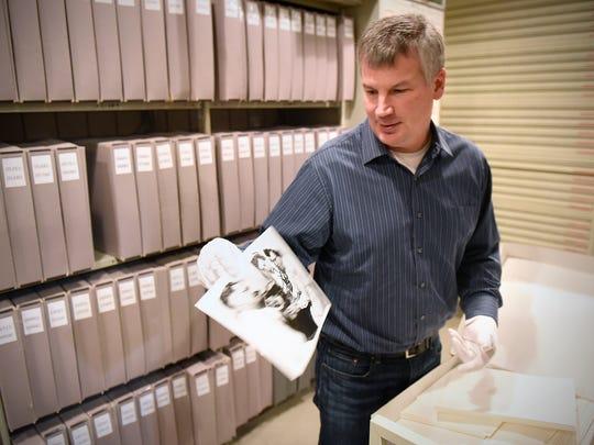 Stearns History Museum head archivist Steve Penick