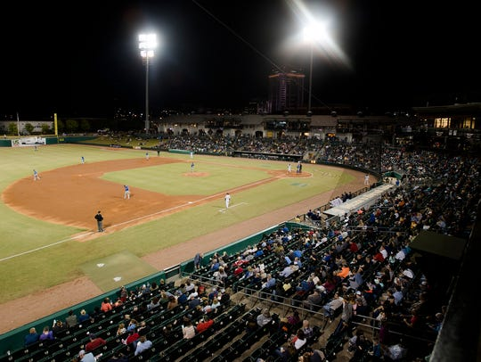 A view of the Montgomery Biscuits season home opener