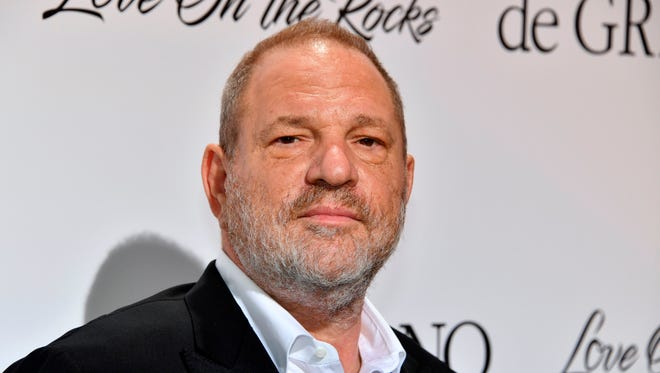 Harvey Weinstein, in Antibes, near Cannes, southeastern France in May, has been fired from The Weinstein Company after allegations of sexual harassment surfaced last week.