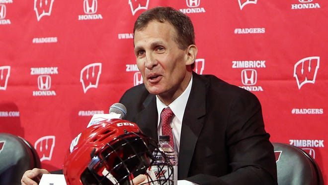 Tony Granato, who was introduced as Wisconsin's men's hockey coach in March 2016, will lead the U.S. Olympic team in 2018.