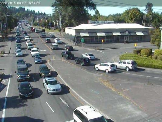 Center St. bridge traffic