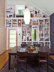 Architect J.C. Schmeil's dining room doubles as a library.