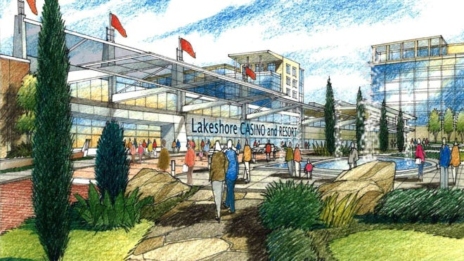 A rendering of the proposed casino and resort. The $180-million project also calls for a 220-room hotel and conference and meeting rooms.