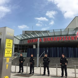 Police respond to a shooting spree at a Munich shopping center