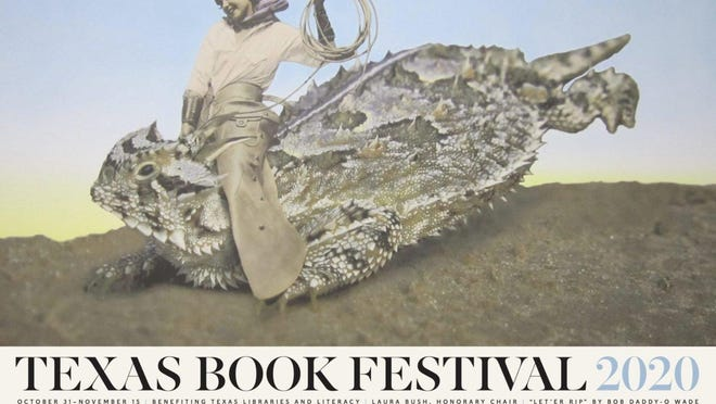 "The Texas Book Festival poster artist for 2020 is the recently deceased Bob ""Daddy-O"" Wade."