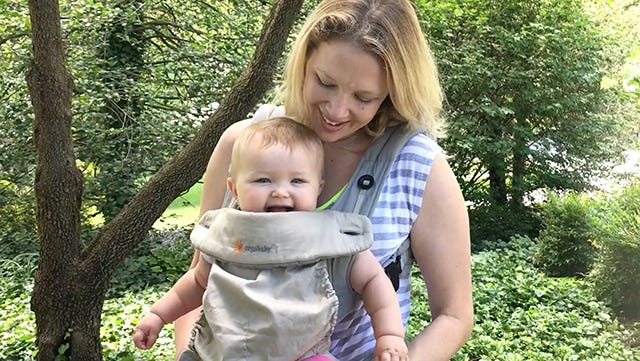 Mary Nahorniak, deputy managing editor for digital, shares her babywearing tips.